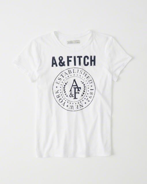 【送料無料】【新品】アバクロ【Womens】プリントTシャツ/White【Burnout Grapic Tee】【Abercrombie&Fitch】【本物保証】【レディース】