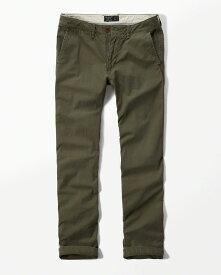 Abercrombie&Fitch (アバクロンビー&フィッチ) チノパンツ (コットンパンツ) (Slim Straight Chino Pants) メンズ (Olive) 新品