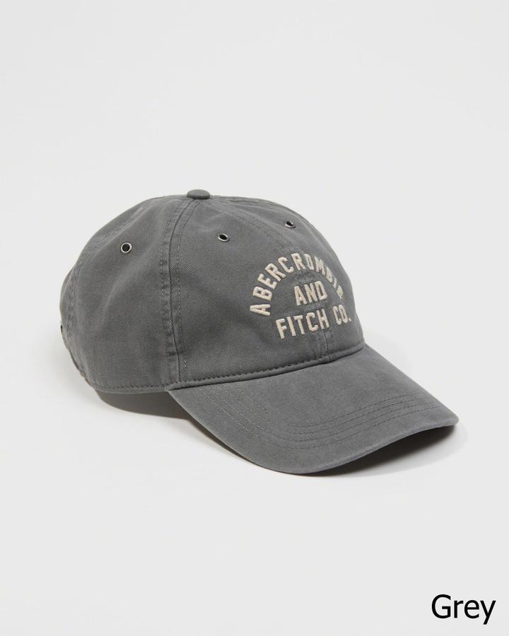 【送料無料】【新品】アバクロ【Mensメンズ】ベースボールキャップ/Grey【Logo Twill Hat 】【Abercrombie&Fitch】【本物保証】
