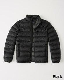 Abercrombie&Fitch (アバクロンビー&フィッチ) ライトウェイトダウンジャケット (Lightweight Down-Filled Packable Puffer) メンズ (Black) 新品
