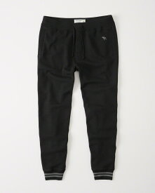 Abercrombie&Fitch (アバクロンビー&フィッチ) ジョガーアクティブパンツ (スエットパンツ) (Icon Fleece Jogger) メンズ (Black) 新品
