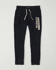 Abercrombie&Fitch (アバクロンビー&フィッチ) アクティブパンツ (スエットパンツ) (Classic Logo Sweatpants) メンズ (Navy) 新品