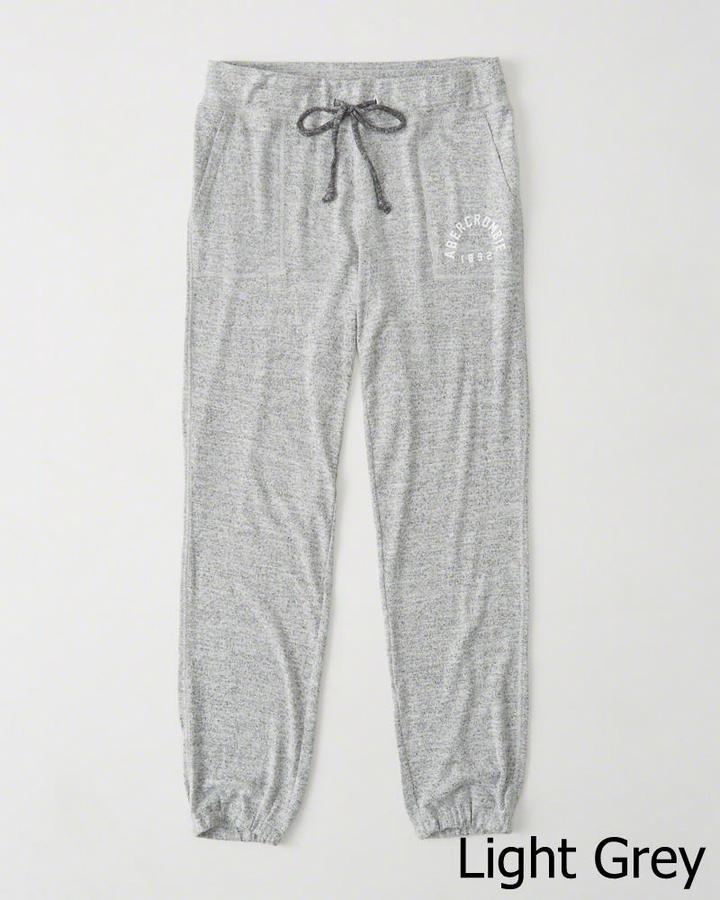 【送料無料】【新品】アバクロ【Womens】アクティブスエットパンツ/Light Grey【Cozy Banded Sweatpants】【Abercrombie&Fitch】【本物保証】【レディース】