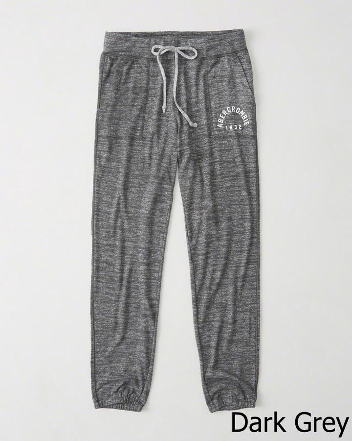 【送料無料】【新品】アバクロ【Womens】アクティブスエットパンツ/Dark Grey【Cozy Banded Sweatpants】【Abercrombie&Fitch】【本物保証】【レディース】