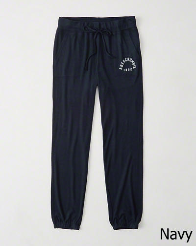 【送料無料】【新品】アバクロ【Womens】アクティブスエットパンツ/Navy【Cozy Banded Sweatpants】【Abercrombie&Fitch】【本物保証】【レディース】
