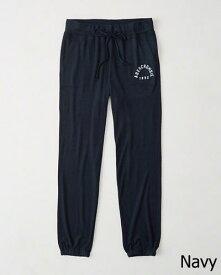【新品】アバクロ【Womens】アクティブスエットパンツ/Navy【Cozy Banded Sweatpants】【Abercrombie&Fitch】【本物保証】【レディース】