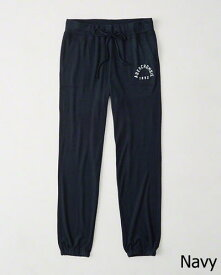 Abercrombie&Fitch (アバクロンビー&フィッチ) 正規品 アクティブスエットパンツ (Cozy Banded Sweatpants) レディース (Navy) 新品
