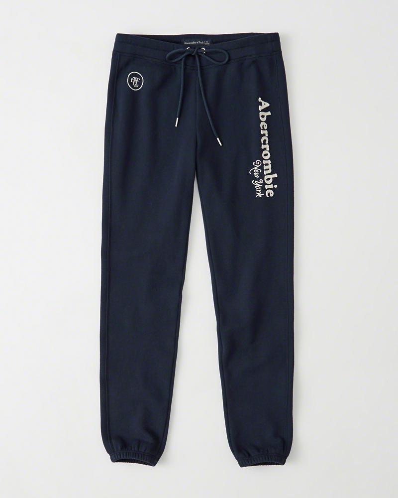 【送料無料】【新品】アバクロ【Womens】アクティブスエットパンツ/Navy【Heritage Logo Sweatpants】【Abercrombie&Fitch】【本物保証】【レディース】