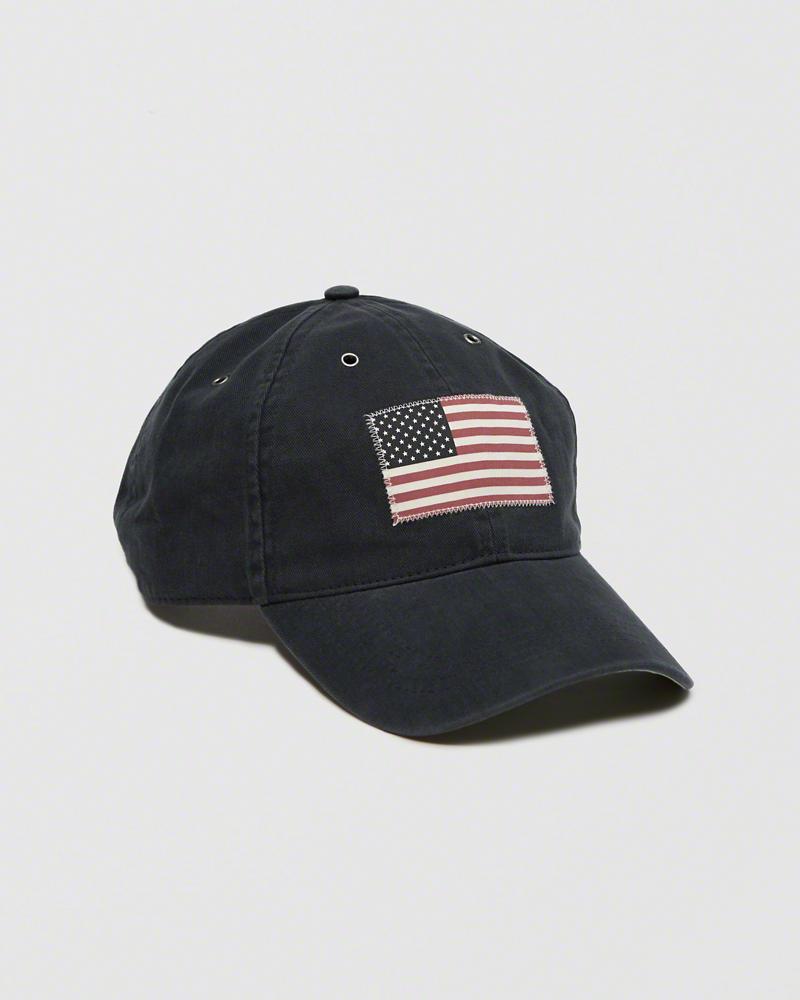 【送料無料】【新品】アバクロ【Mensメンズ】USAフラッグ ハット/Navy【USA Flag Hat】【Abercrombie&Fitch】【本物保証】