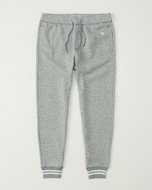 Abercrombie&Fitch (アバクロンビー&フィッチ) ジョガーアクティブパンツ (スエットパンツ) (Icon Fleece Jogger) メンズ (Light Grey) 新品