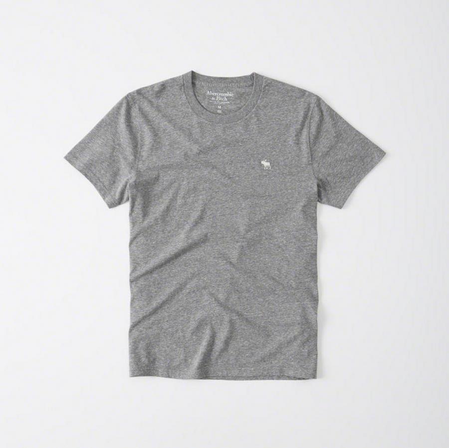 【送料無料】【新品】アバクロ【Mensメンズ】クルーネックTシャツ(半袖)/Heather Grey【Icon Crew Tee】【Abercrombie&Fitch】【本物保証】