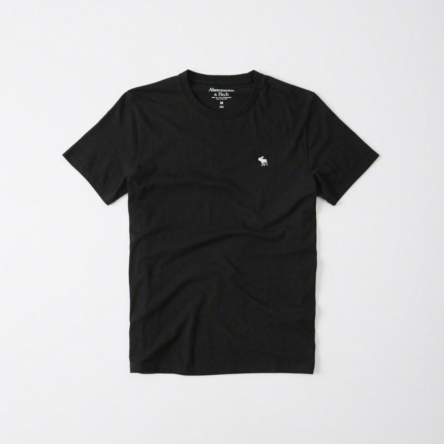 【送料無料】【新品】アバクロ【Mensメンズ】クルーネックTシャツ(半袖)/Black【Icon Crew Tee】【Abercrombie&Fitch】【本物保証】