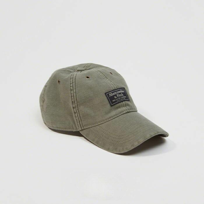 【送料無料】【新品】アバクロ【Mensメンズ】ガーメントダイロゴハット/Olive【Garment Dye Logo Hat】【Abercrombie&Fitch】【本物保証】