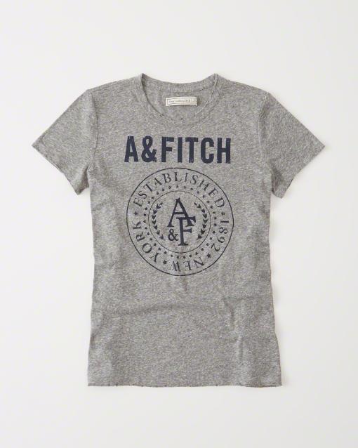 【送料無料】【新品】アバクロ【Womens】プリントTシャツ/Heather Grey【Burnout Grapic Tee】【Abercrombie&Fitch】【本物保証】【レディース】