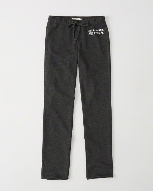 【送料無料】【新品】アバクロ【Womens】スエットパンツ/Dark Grey【Fleece Sweatpants】【Abercrombie&Fitch】【本物保証】【レディース】