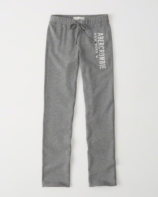 【送料無料】【新品】アバクロ【Womens】スエットパンツ/Grey【Fleece Sweatpants】【Abercrombie&Fitch】【本物保証】【レディース】