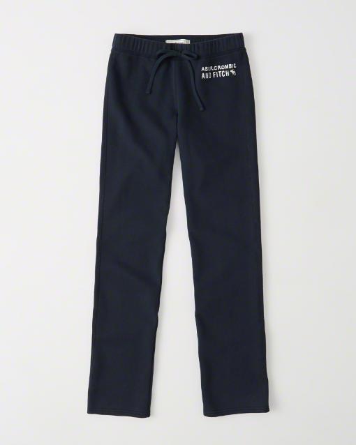 【送料無料】【新品】アバクロ【Womens】スエットパンツ/Navy【Fleece Sweatpants】【Abercrombie&Fitch】【本物保証】【レディース】