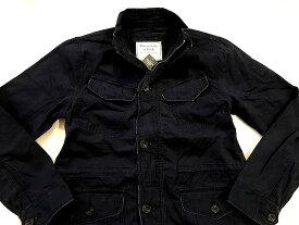 Abercrombie&Fitch (アバクロンビー&フィッチ) ミリタリージャケット (Shirt Jacket) メンズ (Navy) 新品