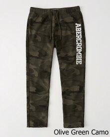 Abercrombie&Fitch (アバクロンビー&フィッチ) クラッシックロゴ スエットパンツ (Classic Logo Sweatpants) メンズ (Olive Green Camo) 新品