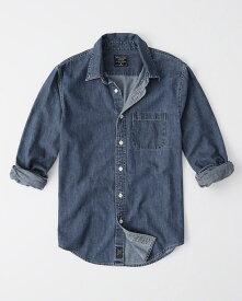 Abercrombie&Fitch (アバクロンビー&フィッチ) ワンポケット デニムシャツ(長袖)(One Pocket Denim Shirt) メンズ (Indigo) 新品