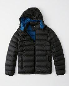 Abercrombie&Fitch (アバクロンビー&フィッチ) 取り外し可能フード パッカブルパファージャケット (Removable Hood Packable Puffer) メンズ(長袖)(Black) 新品 USAモデル