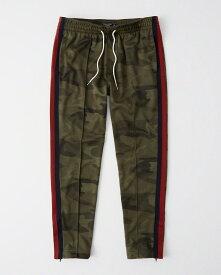 Abercrombie&Fitch (アバクロンビー&フィッチ) サイドライン トラックパンツ (Logo Tape Track Pants) メンズ (Olive Camo) 新品