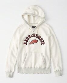 Abercrombie&Fitch (アバクロンビー&フィッチ) ヘビーウェイト ヘリテージ ロゴフーディー (Heavyweight Heritage Logo Hoodie) メンズ (White) 新品