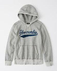 Abercrombie&Fitch (アバクロンビー&フィッチ) ヘビーウェイト ヘリテージ ロゴ フーディー (Heavyweight Heritage Logo Hoodie) メンズ (Heather Grey) 新品