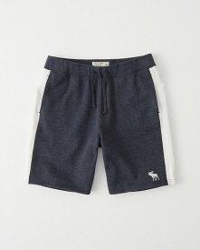 Abercrombie&Fitch (アバクロンビー&フィッチ) ロゴ 刺繍 スエット ショーツ (Logo Fleece Shorts) メンズ (Heather Navy) 新品