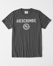 Abercrombie&Fitch 正規品 (アバクロンビー&フィッチ) アップリケTシャツ (Logo Graphic Tee) メンズ (Dark Grey) 新品