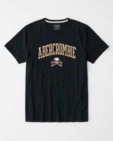 Abercrombie&Fitch 正規品 (アバクロンビー&フィッチ) アップリケ Tシャツ (Applique Logo Rugby Tee) メンズ (Navy) 新品