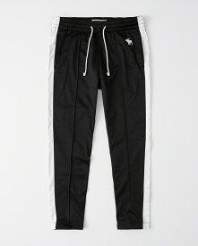 Abercrombie&Fitch (アバクロンビー&フィッチ) サイドライン トラックパンツ (Side Tape Track Pants) メンズ (Black) 新品