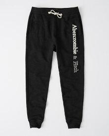 Abercrombie&Fitch (アバクロンビー&フィッチ) クラッシックロゴ ジョガースエットパンツ (Logo Joggers) メンズ (Black) 新品