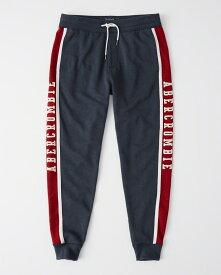 Abercrombie&Fitch (アバクロンビー&フィッチ) 日本未発売 クラッシックロゴ ジョガースエットパンツ (Logo Joggers) メンズ (Navy) 新品