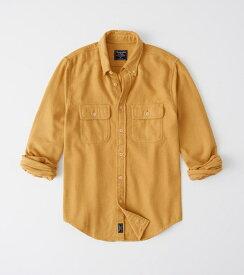 Abercrombie&Fitch (アバクロンビー&フィッチ) フランネルシャツ (ネルシャツ)(Flannel Shirt) メンズ (Yellow) 新品