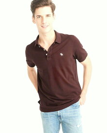 Abercrombie&Fitch (アバクロンビー&フィッチ) ストレッチ 鹿子 ポロシャツ (Stretch Icon Polo) メンズ (Burgundy) 新品