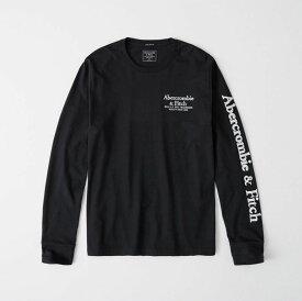 Abercrombie&Fitch (アバクロンビー&フィッチ) ロゴ アップリケ 長袖Tシャツ (ロンT) (Long-Sleeve Applique Logo Tee) メンズ (Navy) 新品