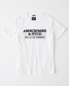Abercrombie&Fitch 正規品 (アバクロンビー&フィッチ)  ロゴ アップリケ グラフィック Tシャツ (Short-Sleeve Applique Graphic Tee) メンズ (White) 新品