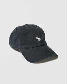 Abercrombie&Fitch (アバクロンビー&フィッチ) Moose刺繍ツイルハット (Icon Twill Cap) メンズ (Navy Blue) 新品