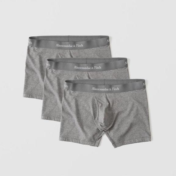 【新品】アバクロ【Mensメンズ】3枚セットアンダーウェア(ボクサーブリーフパンツ)/Heather Grey【3-pack Boxer Brief】【Abercrombie&Fitch】【本物保証】