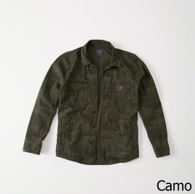 Abercrombie&Fitch (アバクロンビー&フィッチ) ミリタリーシャツ ジャケット(長袖)(Military Shirt Jacket) メンズ (Camo) 新品