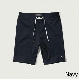 "Abercrombie&Fitch (アバクロンビー&フィッチ) ストレッチ ボードショーツ 水着 (9"" Board Fit Swim Shorts) メンズ (Navy) 新品"