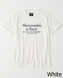 Abercrombie&Fitch 正規品 (アバクロンビー&フィッチ) ロゴグラフィックTシャツ (Logo Tee)(Graphic Tees) メンズ (White) 新品
