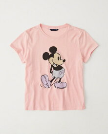 Abercrombie&Fitch 正規品 (アバクロンビー&フィッチ) レディース ミッキー Tシャツ (Mickey Mouse Tee) (Pink) 新品