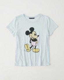 Abercrombie&Fitch 正規品 (アバクロンビー&フィッチ) レディース ミッキー Tシャツ (Mickey Mouse Tee) (Light Blue) 新品