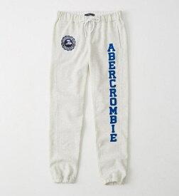 Abercrombie&Fitch (アバクロンビー&フィッチ) 正規品 アクティブスエットパンツ (Banded Logo Sweatpants) レディース (Oatmeal) 新品