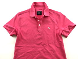 Abercrombie&Fitch (アバクロンビー&フィッチ) 正規品 ストレッチ鹿の子半袖ポロシャツ (Stretch Polo) メンズ (Pink) 新品