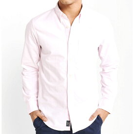 Abercrombie&Fitch (アバクロンビー&フィッチ) オックスフォードシャツ(長袖)(Tonal Oxford Shirt) メンズ (Light Pink) 新品 日本未発売