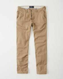 Abercrombie&Fitch (アバクロンビー&フィッチ) ストレッチ ストレートチノパンツ(コットンパンツ)(Straight Chino Pants) メンズ (Light Khaki) 新品