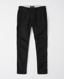 Abercrombie&Fitch (アバクロンビー&フィッチ) ストレッチ スーパースリムチノパンツ (Super Slim Chino Pants) メンズ (Black) 新品
